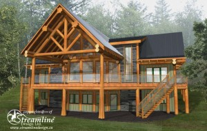 Golden Acres B&B Log Home Plans