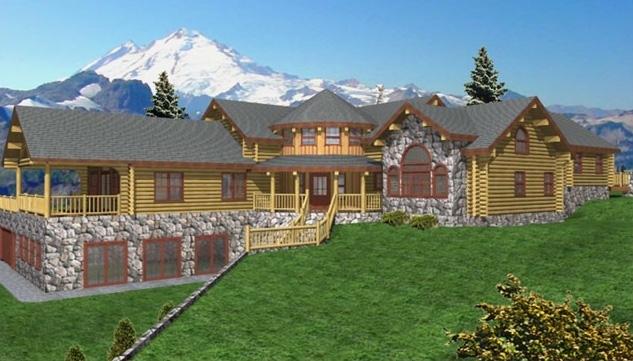 grand rapids log home plans 5280sqft streamline design