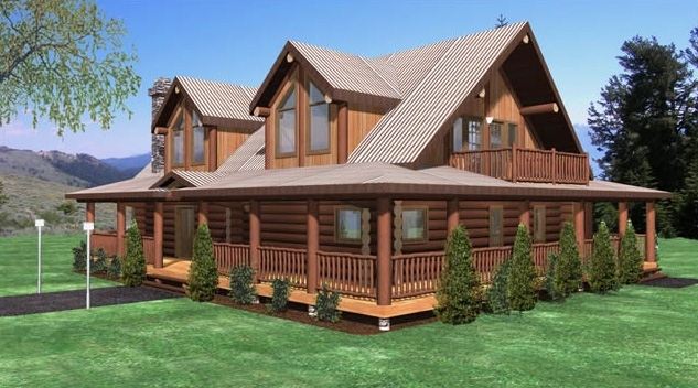 Hayward Log Home Plans