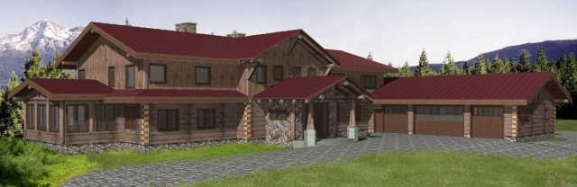 Jollymore Log Home Plans