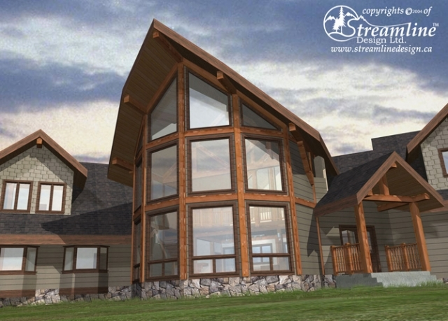 Kalum Timber Frame Plans 9196sqft Streamline Design