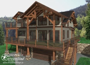 Lookout Ridge Timber Frame House