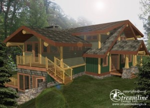 Mixal Heights Log Home Plans