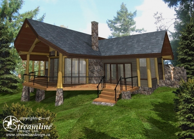 Mixal Heights Lot 5 Log Home Plans