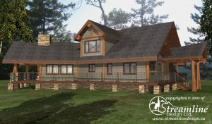 Nass Valley Lodge Log Home Plans