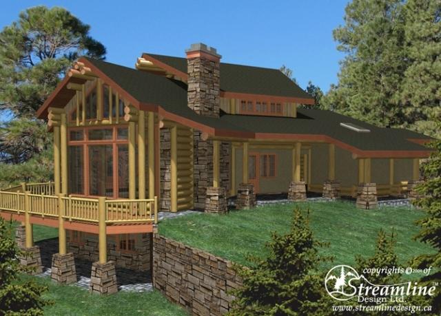 Pagosa Springs Log Home Plans