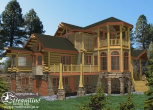 Pagosa Springs Log Home Plans