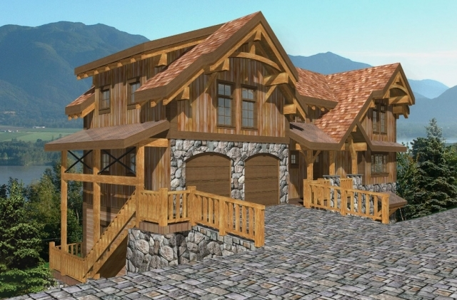 Palisades I Timber Frame Plan