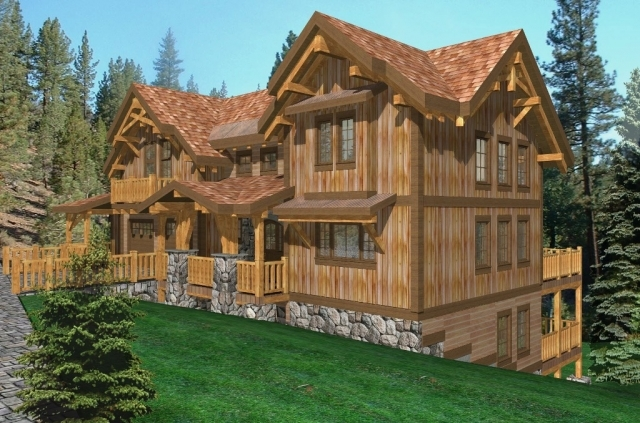 Palisades II Log Home Floor Plans