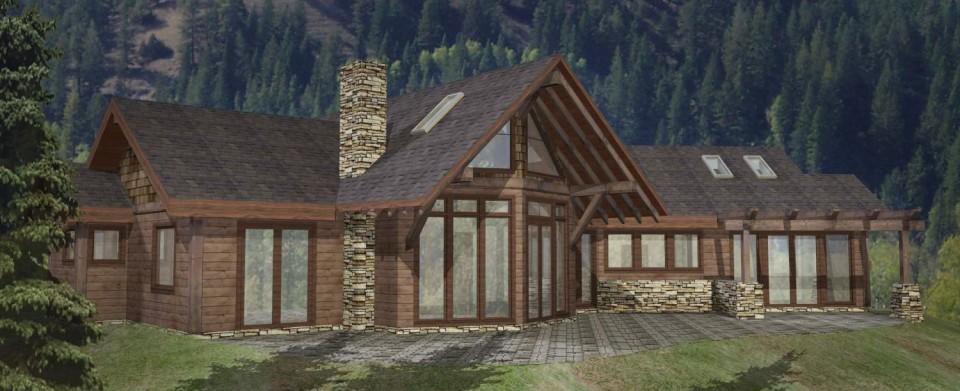 Pioneer Timber Frame Plan