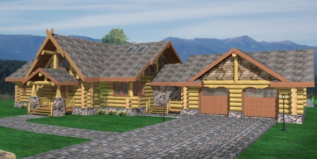 Pleasant Prairie Log Home Plans