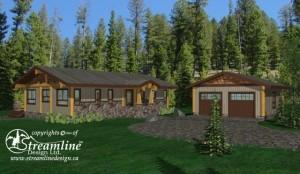 Resolute Bay Log Home Plans