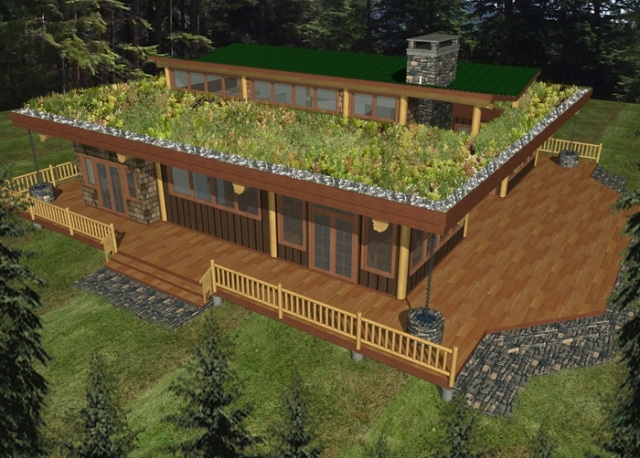 Roberts Creek Log Home Plans