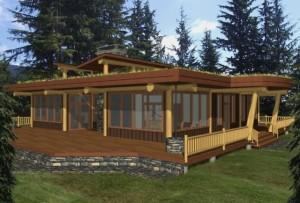 Roberts Creek Log Home Plans