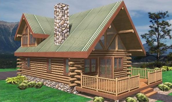 Saddlehorn Log Home Plans