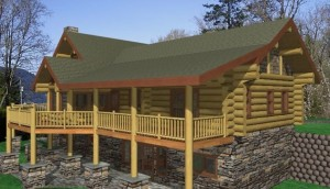 Scottsdale Log Home Plans
