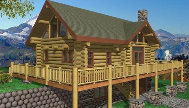 Scottsdale Log Home Plans