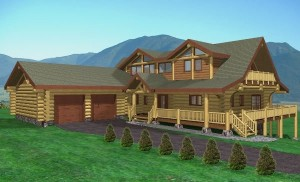Seven Glens Log Home Plans