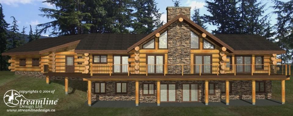Sherman Log Home Plans
