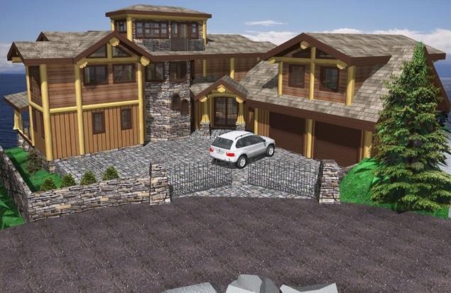 Shoal Lookout Log Home Plans 3378sqft Streamline Design