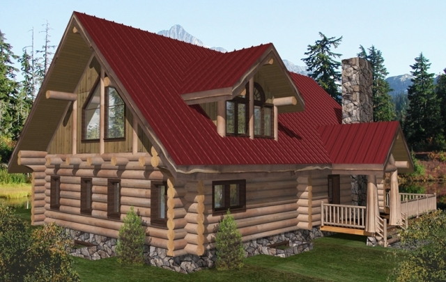 Squanga Lake Log Home Plans