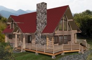 Squanga Lake Log Home Plans