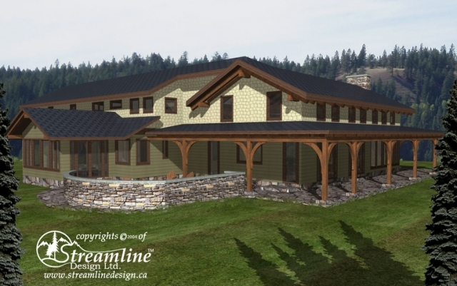 The Collier Timber Home Plan