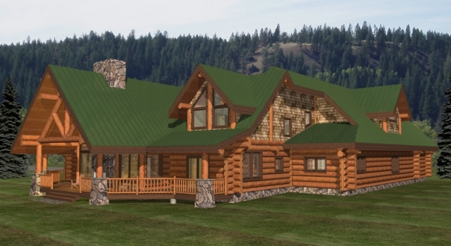The Confederate Log Home Plans