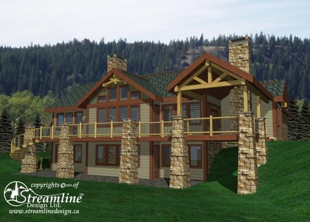 The Fairways Custom Timber Frame Plan