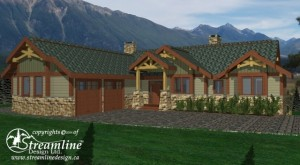 The Fairways Custom Timber Frame Plan