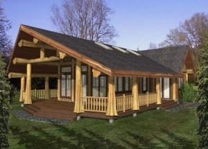 The Jefferson Log Home Plans