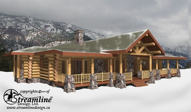 The Logan Log Home Plans