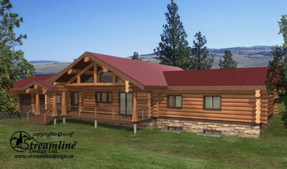 Thorsby Log Home Plans