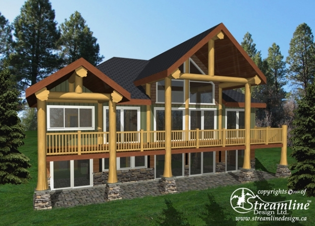 Trail Bay Log Home Plans