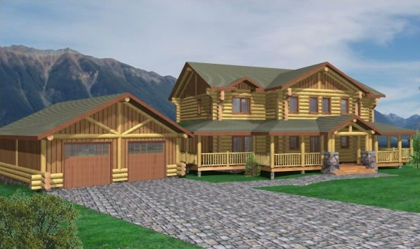 Tucson Log Home Plans