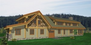 Tumble Creek Log Home Plans