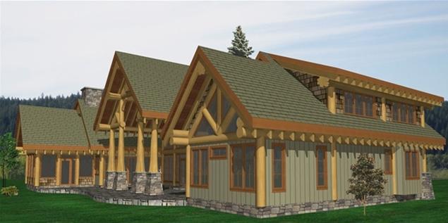 Tumble Creek Log Home Plans
