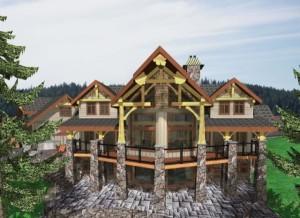 Uplands Custom Log Home1