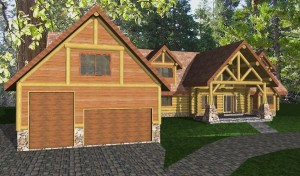 Kendall Log Home Plans