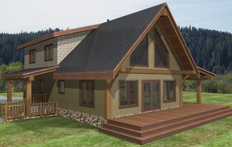 Turtle Valley Timber Frame Plans 1735sqft Streamline