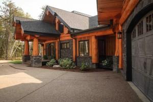Post and Beam Log Home Alberta Canada