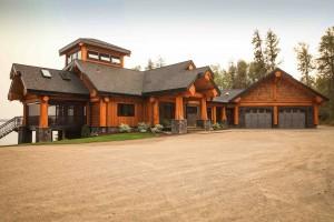 Post and Beam Log Home Alberta Canada by Artisan