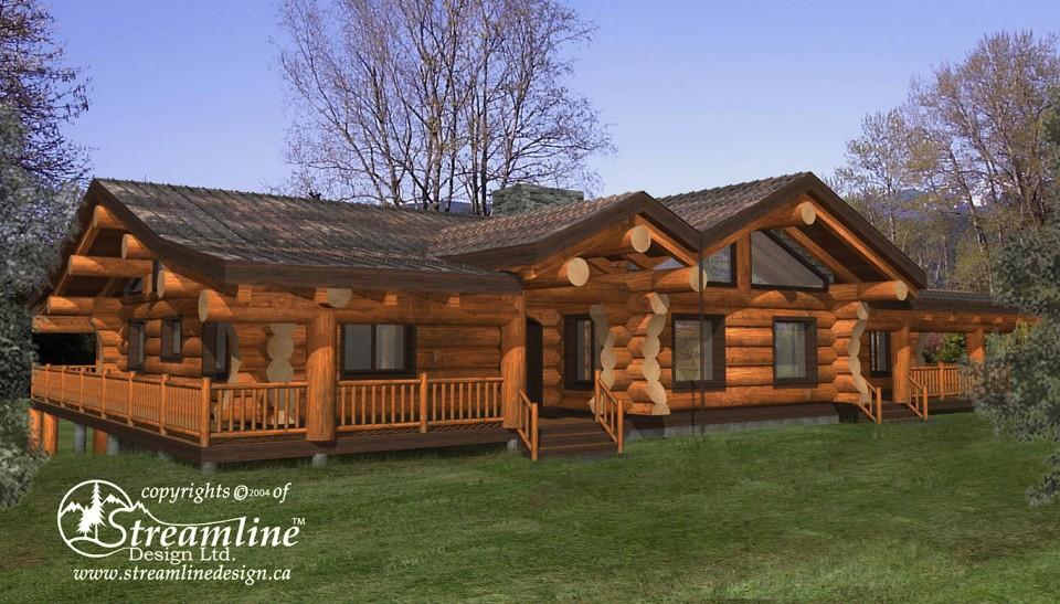 Linn County Log Home by Streamline Design