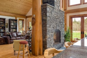 Campbell Valley Post and Beam Log Home 3 - Streamline Design