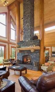 Campbell Valley Post and Beam Log Home 6 - Streamline Design