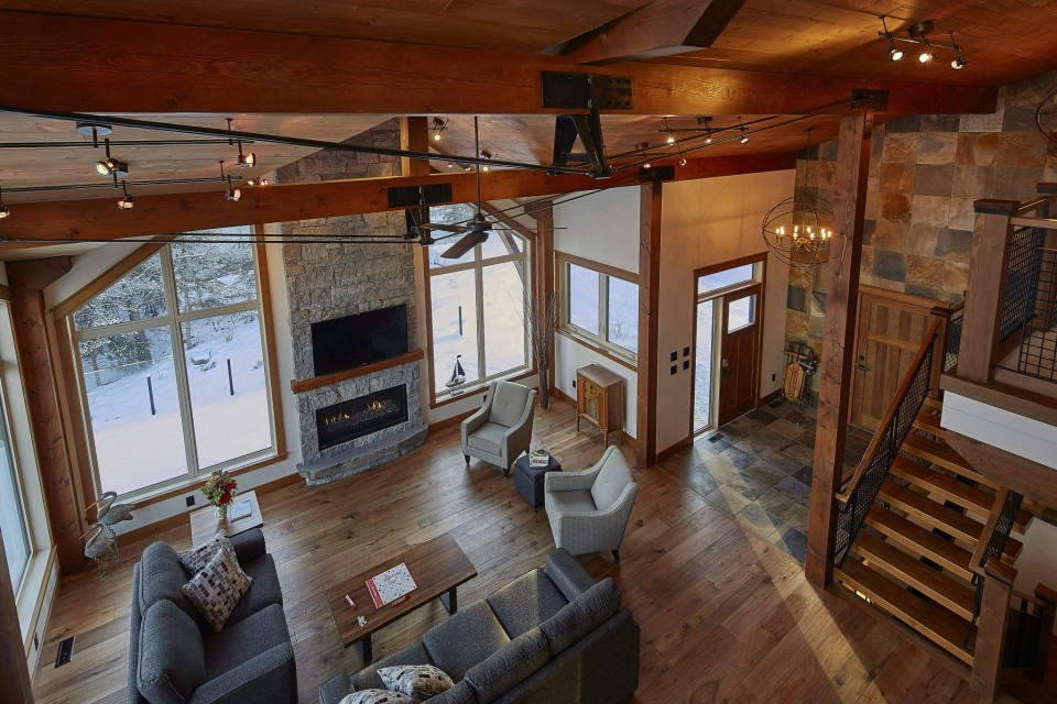 Emma Lake Timber Frame Log Home 15 | Streamline Design