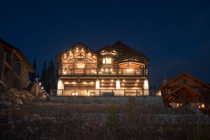 Lottinville Timber Frame Log Home 2 - Streamline Design