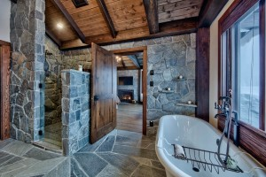 Lottinville Timber Frame Log Home 40 - Streamline Design