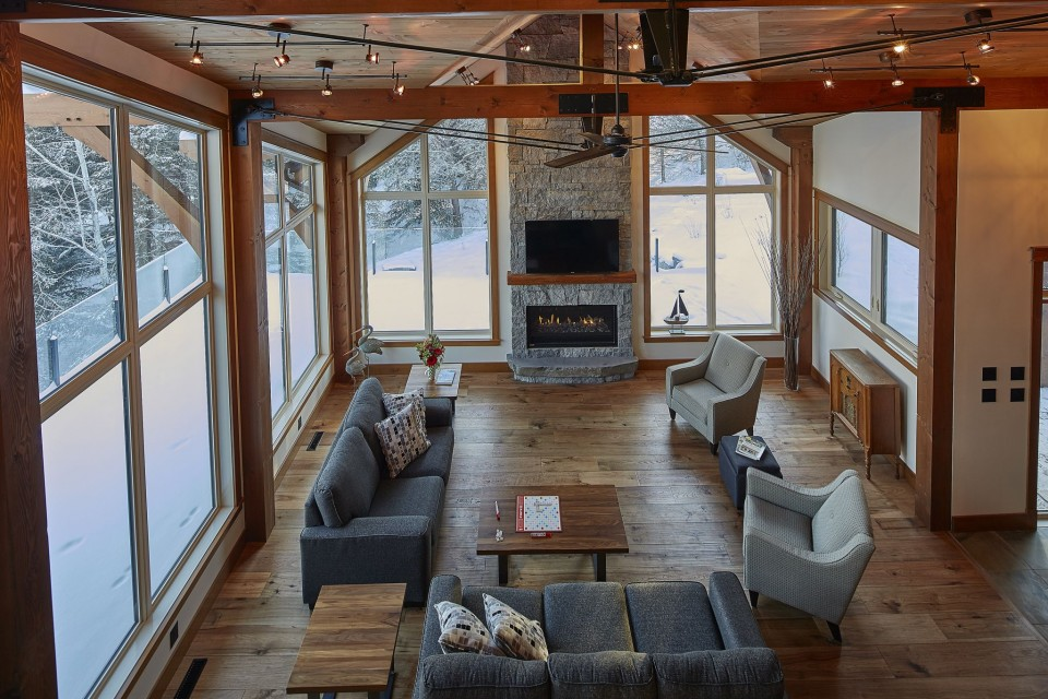 Emma Lake Timber Frame Log Home 19 | Streamline Design