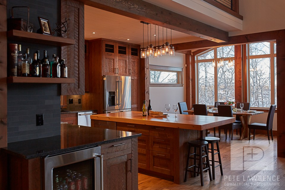 Emma Lake Timber Frame Log Home 5 | Streamline Design